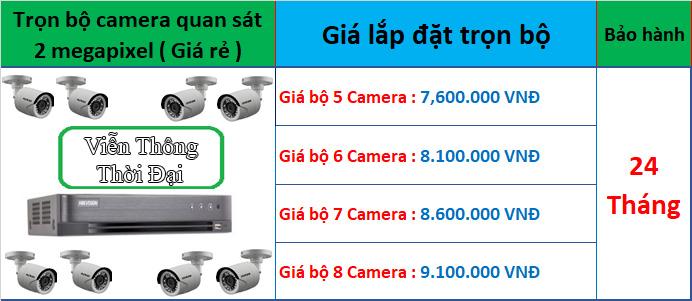 Trọn bộ từ 5 đến 8 camera