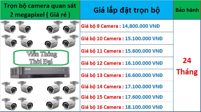 Trọn bộ từ 9 đến 16 camera