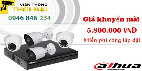 Trọn bộ 4 camera dahua 2mp giá rẻ