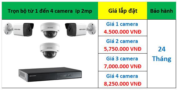 Lắp đặt trọn bộ từ 1 đến 4 camera ip hikvision