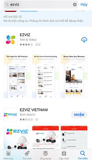 Download phần mềm ezviz về điện thoại